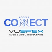 Accela Connect logo and VuSpex Mobile Video Inspections logo
