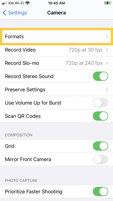VuSpex iOS settings gps 03