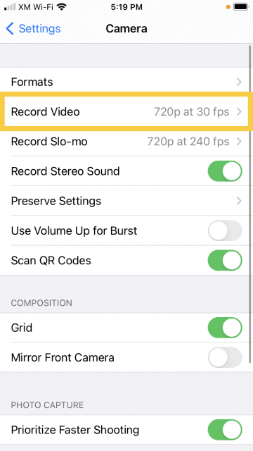 Virtual Inspection Software - VuSpex iOS settings video 03