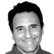 About VuSpex team member Kevin Kalajan. Black and white photo headshot.