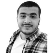 About VuSpex team member Zakaria Tayeb Bey. Black and white photo headshot.